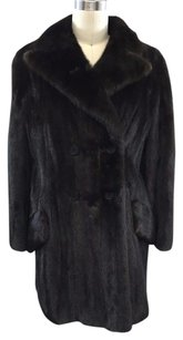Oscar de la Renta Furs At Magnin Vintage Dark Mink Coat Brown Jacket