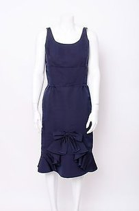 Oscar de la Renta short dress Blue Navy on Tradesy
