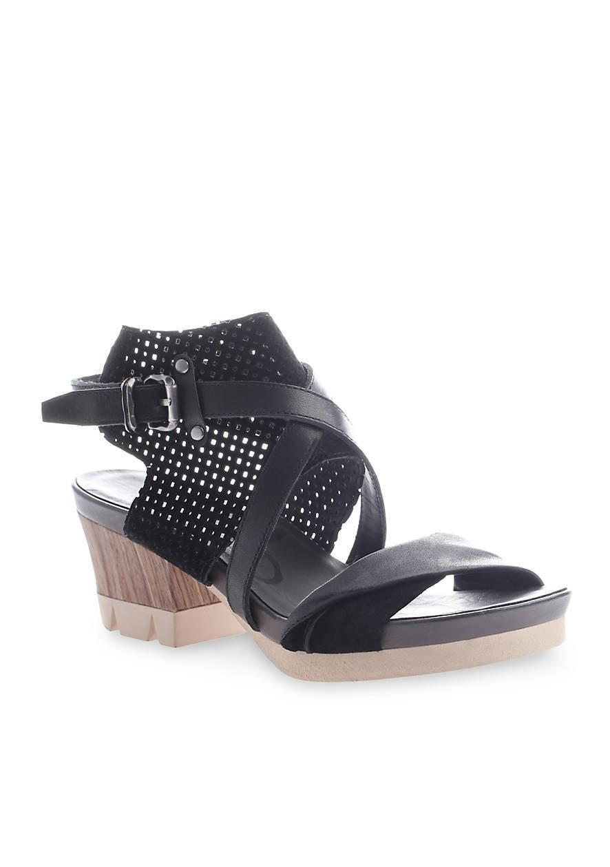 OTBT Black Leather Sandals