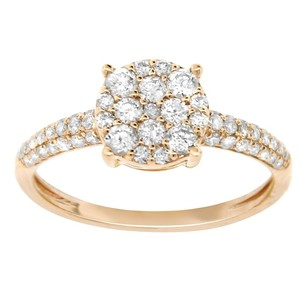Other 0.64ct Diamond 14k Rose Gold Round Ring 5-8