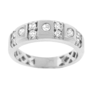 Other 0.78ct Diamond 14k White Gold Mens Band