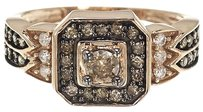 Other 10k Ladies Rose Gold Brown Diamond Solitaire Fashion Wedding Engagement Ring