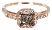 Other 10k Ladies Rose Gold Brown Princess Diamond Wedding Engagement Ring 0.25 Ct