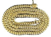 10K Solid Heavy 8.62MM Yellow Gold Miami Cuban Chain Necklace 36