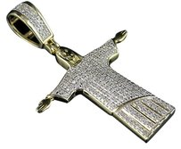 Other 10k Yellow Gold Jesus Christ The Redeemer Genuine Diamond Pendant Charm 0.50ct