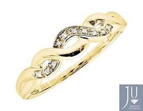 Other 10k Yellow Gold Lace Infinity Real Diamond Engagement Wedding Band Ring 0.05ct