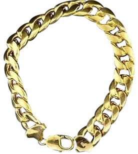 Other 10k Yellow Gold Miami Cuban Semi Hollow 12.50mm Wide Link Inch Bracelet