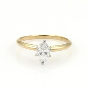 14k Gold Marquise 0.93ct D Si1 Diamond Solitaire Ring Wigi Appraisal