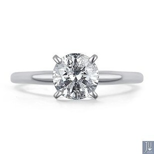 14k White Gold Round Cut Solitaire Diamond Engagement Promise Ring 34 Ct