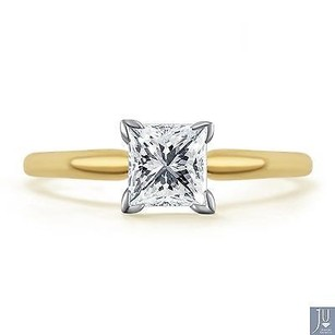 14k Yellow Gold Princess Cut Solitaire Diamond Engagement Promise Ring 1.0 Ct