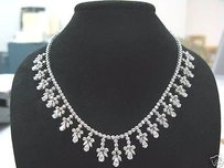 Other 18.15ct Drop Down Diamond Necklace Wg 18kt