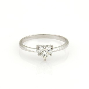 Other 18k White Gold Diamonds Heart Shaped Engagement Ring