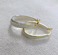 Other 18Kt Gold Plated pearl Inside Outside Hoop