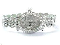 Other 18kt Oval Shape Diamond White Gold Watch 10.00ct