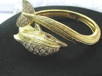 Other 18kt Mapamenos Natepas Gem Ruby Diamond Dolphin Yellow Gold Bangle 2.85ct
