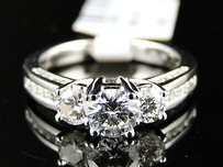 14k Ladies 3 Stone Engagement Wedding Diamond Ring 1 Ct