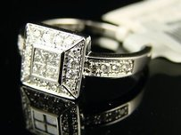 14k Bridal Engagement Princess Cut Diamond Ring .50 Ct
