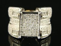 Ladies Xl Princess Bridal Engagement Diamond Ring 1.9 C