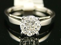 Ladies Womens Diamond 7.5 Mm Solitaire Engagement Ring