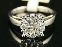 Ladies Womens Diamond 9 Mm Solitaire Engagement Ring
