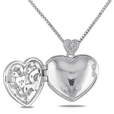 Other Sterling Silver 110 Ct Diamond Tw Heart Love Fashion Pendant Necklace Gh I2i3