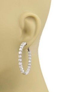 Other 7.6ct Diamonds Inside Out Hoop Earrings In 18k White Gold