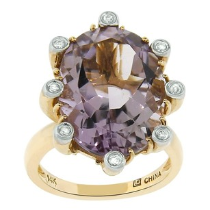 Other 9.25ct Amethyst 14k Yellow Gold Cocktail Ring 5-8