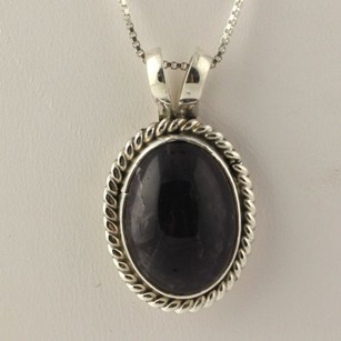 Other Amethyst Pendant Necklace Sterling Silver Simon I Yazzie Navajo Native American