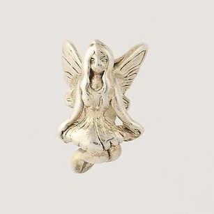 Angel Fairy Bead Charm - Sterling Silver 925 Figural Girl Ethereal