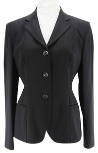 Antonio Fusco Womens Suit Black Virgin Wool Blend -