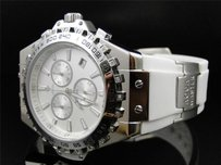 Aqua Master Joe Rodeo White Rubber Swiss Signature Diamond Watch W337 108-8