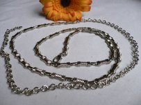 Women Silver Metal Ultra Thin Narrow Fashion Metal Chains Belt 27-37