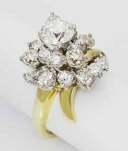 Other Bailey Bank Biddle 18k Gold 3tcw Old Miner Diamond Cluster Engagement Ring R15