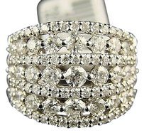 14k Ladies Xxl Round Cut Si Diamond Band Ring 2.5 Ctw