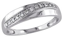 Other 10k White Gold 110 Ct Diamond Tw Crossover Fashion Ring Gh I2-i3