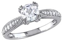 Other Sterling Silver 15 Ct Diamond 1 Ct Tgw White Sapphire Fashion Ring Gh I1-i2