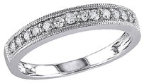 Other 10k White Gold 14 Ct Diamond Tw Wedding Band Ring Gh I2-i3