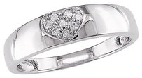 14k White Gold Diamond Fashion Band Ring Gh I2i3