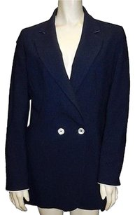 Other Michele Negri Navy 100 Wool Button Collared Hs2950 Blue Jacket