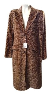 Moschino Jeans Leopard Cotton Coat