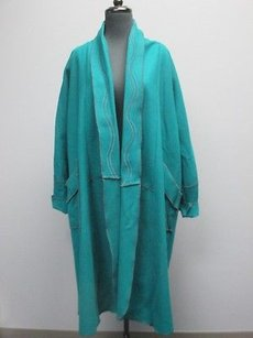 Other Gloriah Walsh Green Long Sleeve Solid Open Front Fold Over 2638 Coat
