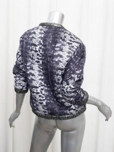 Other Isabel Marant X Hm Womens Reversible Metallic Silverpurple 2xs Multi-Color Jacket