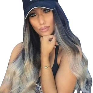 Other Beautiful Gray Ombre Lacefront Wig 26 inches!!