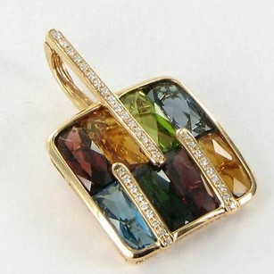 Bellarri Enhancer Pendant Boulevard 0.15cts Diamond Gemstones 18k Rg
