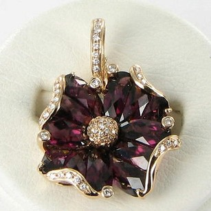 Other Bellarri Enhancer Pendant Marietta Iii 0.19cts Diamond Garnets 18k Rg
