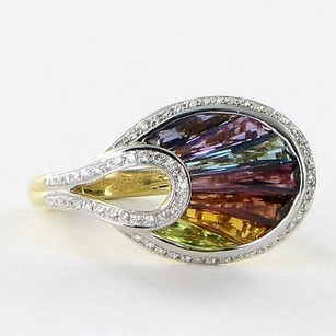 Other Bellarri Ring La Bouquet 0.27cts Diamond 2.70cts Gems 18k Yg
