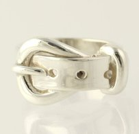 Belt Ring - Sterling Silver 925 Womens Chunky Band 6-6.25 Mexico