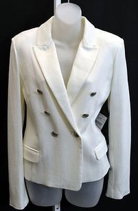 Other Maxmara Ivory Textured Knit Blazer Double Breasted 90906mm Ivories Jacket