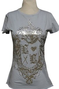 Other Embellished Tee T Shirt Blues