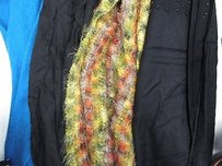Other Boutique Lot Of Black Multicolor Fringe Ruffle Frilly Scarves Shawl Oz B2877